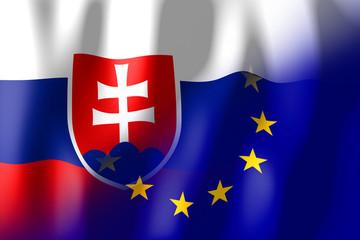 99f8da240d Slovakia and European Union flags