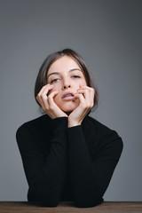 Woman portrait in studio