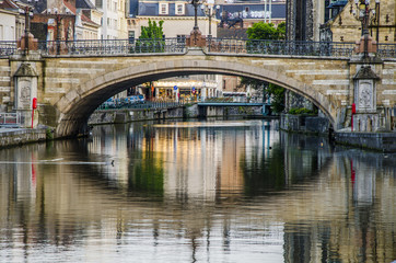 St. Michael Bridge in the city of Ghent