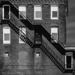 Fire Escape at the Mill - 165237184