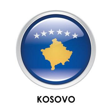 Round flag of Kosovo