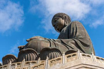Tian Tan Buddha statue at Po Lin Monastery in Hong Kong