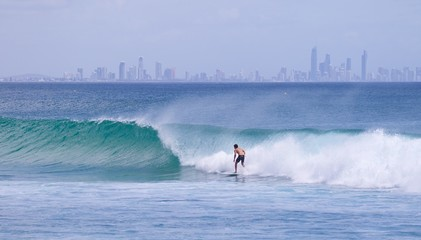 Surfer on Gold Coast