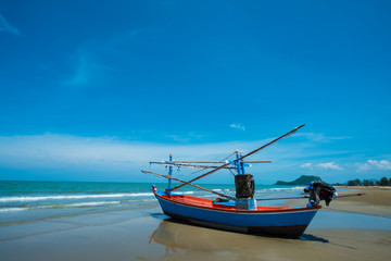 fisherman's boat  on the beach