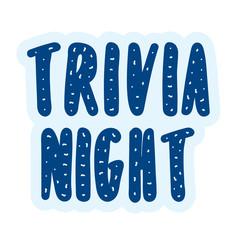 Trivia Night Vector Banner