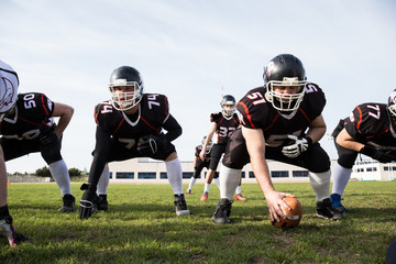 American football players in field