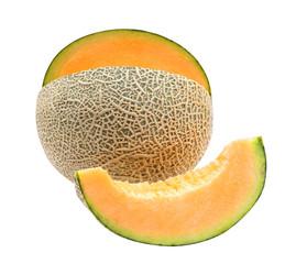 Melon isolated on white background, Japanese sweet fruit