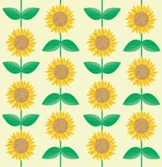 seamless sunflower pattern background