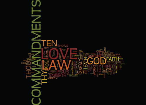 THE LAW OF LOVE Text Background Word Cloud Concept