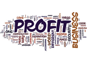 THE LANGUAGE OF SUCCESS A DIFFERENT WAY TO PROFIT FROM YOUR BUSINESS Text Background Word Cloud Concept