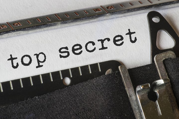 top secret, Text Schreibmaschine