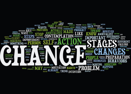 THE ART OF CHANGE Text Background Word Cloud Concept