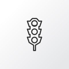 Traffic Lights Icon Symbol. Premium Quality Isolated Stoplight Element In Trendy Style.