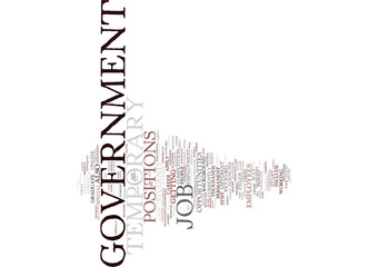 TEMPORARY GOVERNMENT JOB Text Background Word Cloud Concept