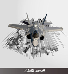 eps Vector image:Stealth aircraft