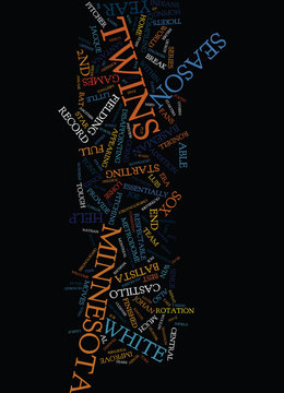 MINNESOTA TWINS PREVIEW Text Background Word Cloud Concept