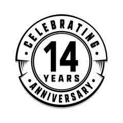 search photos 14 birthday 14th Birthday Balloons 14 years anniversary logo template vector and illustration