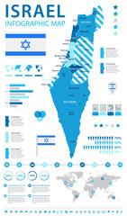 Israel - map and flag illustration