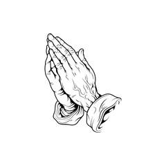 Praying Hands, Vector illustration