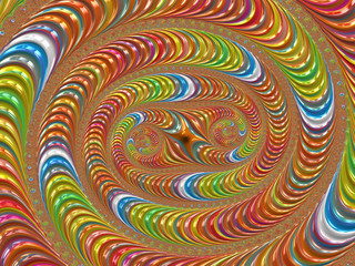 Spinning Snakes - A Fractal Image