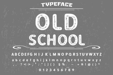 vintage font alphabet handcrafted vector typeface