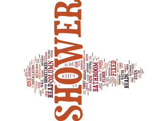 LONDON BUILDERS SHEER APPEAL OF YOUR SHOWER PART ONE Text Background Word Cloud Concept