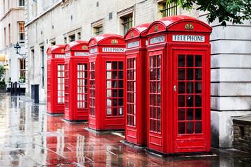 Garden Poster London Covent Garden phone boxes