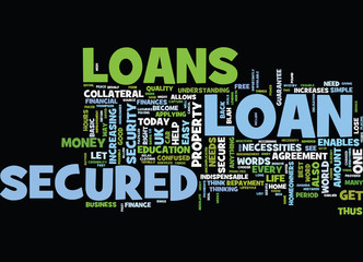 LET US UNCOVER THE MYSTRY OF SECURED LOANS Text Background Word Cloud Concept