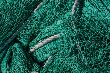 Fischnetz, gesehen im Hafen von Heimaey /Island