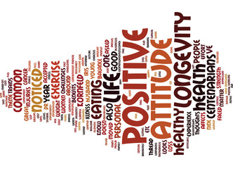 LEARN FROM CENTENARIANS ABOUT LONGEVITY Text Background Word Cloud Concept