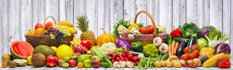 In de dag Keuken Vegetables and fruits background