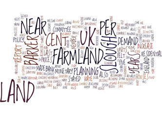 LAND OF FARMLAND NEAR SLOUGH Text Background Word Cloud Concept