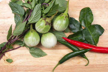 Ingredients for cooking Green curry