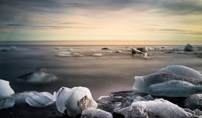 Jokulsarlon Glacier Lagoon and Diamond Beach, Iceland