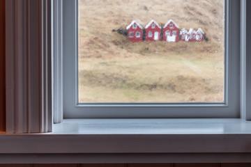 Elfenhäuser im Regen