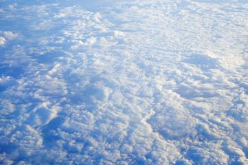 Wall Mural - Aeriel view blue sky cloud background