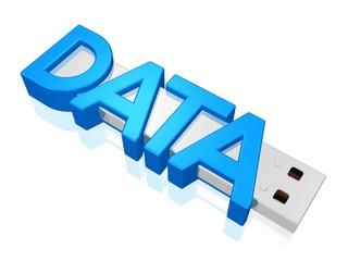 USB - Gerät mit Daten, symbolisch