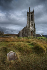 Chiesa in rovina di Dunlewy Donegal, Irlanda