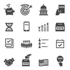 Vote icons - vector icon set