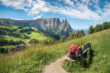 Berg Schlern auf der Seiser Alm / Südtirol