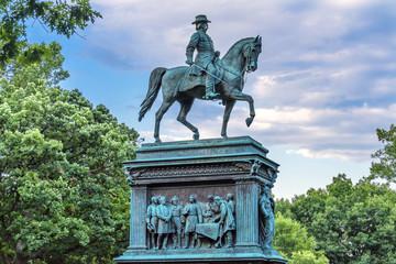 General John Logan Memorial Civil War Statue Logan Circle Washington DC.