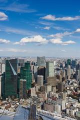 JAPAN, TOKYO-FEBRUARY 14, 2017: Tokyo with skyline in Tokyo Japan.