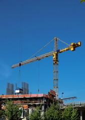 New construction of high-rise buildings in New Westminster cit