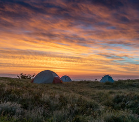 Three Tents At First Light