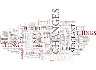 FLEXIBILITY ADAPTIBILITY AND THE KEYS TO MARTIAL ARTS MASTERY KEY Text Background Word Cloud Concept