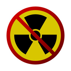 Abstract Radiation Forbidden Sign Isolated