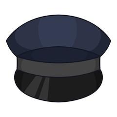 Patrol cap icon, cartoon style