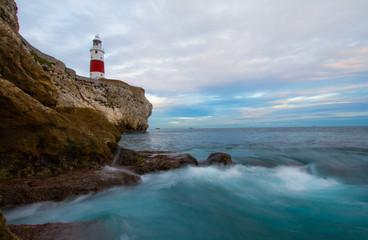 Gibraltar Lighthouse from Europa Foreshore