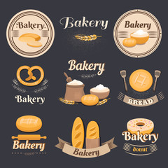 Vintage bakery logo.
