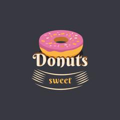 Vintage logo donut.